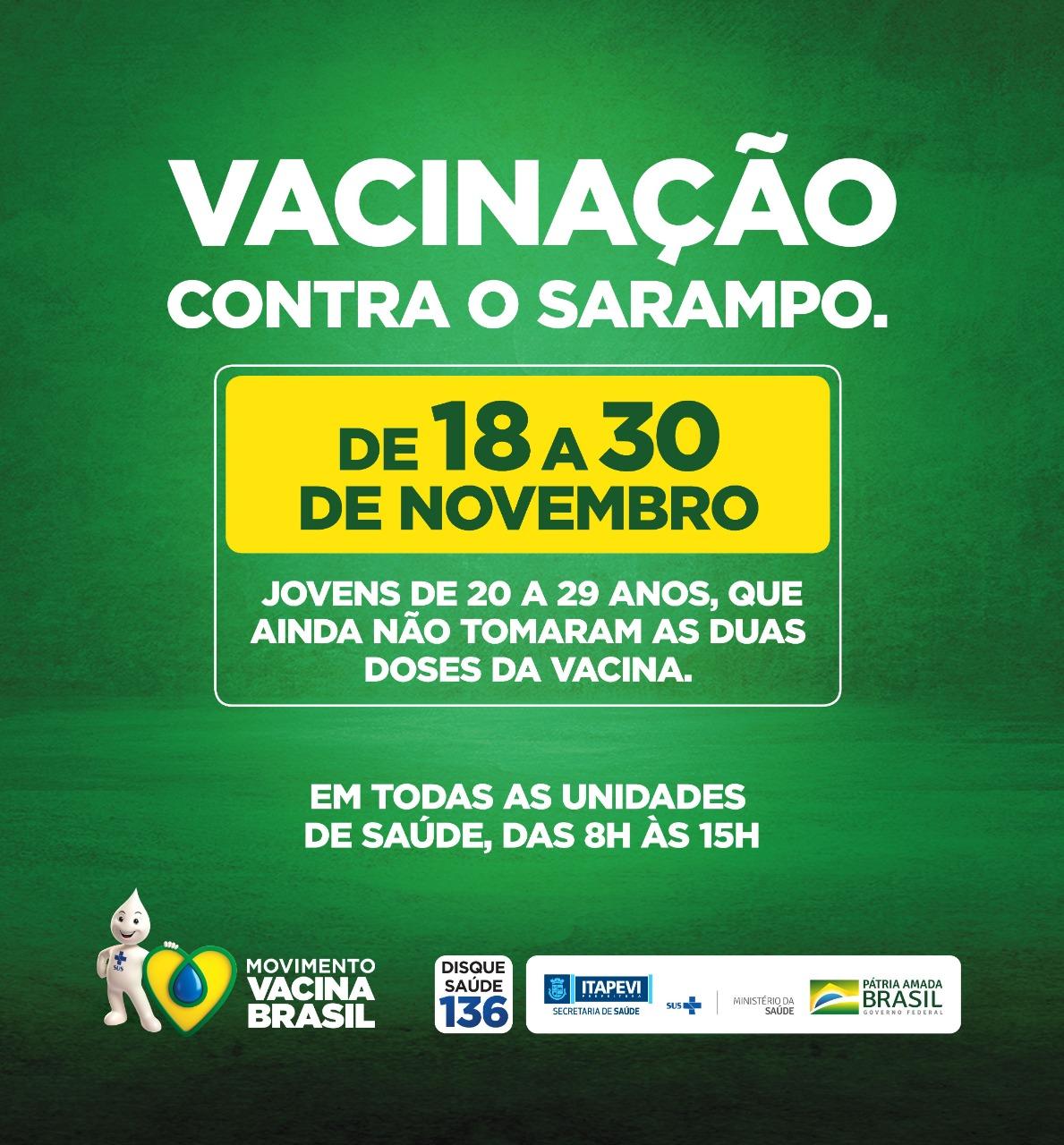 Itapevi inicia campanha contra sarampo para jovens de 20 a 29 anos - Agência Itapevi